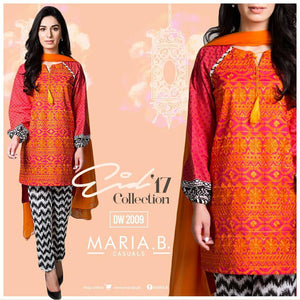 Maria B MB-2009 Winter Linen Embroidered three piece suit