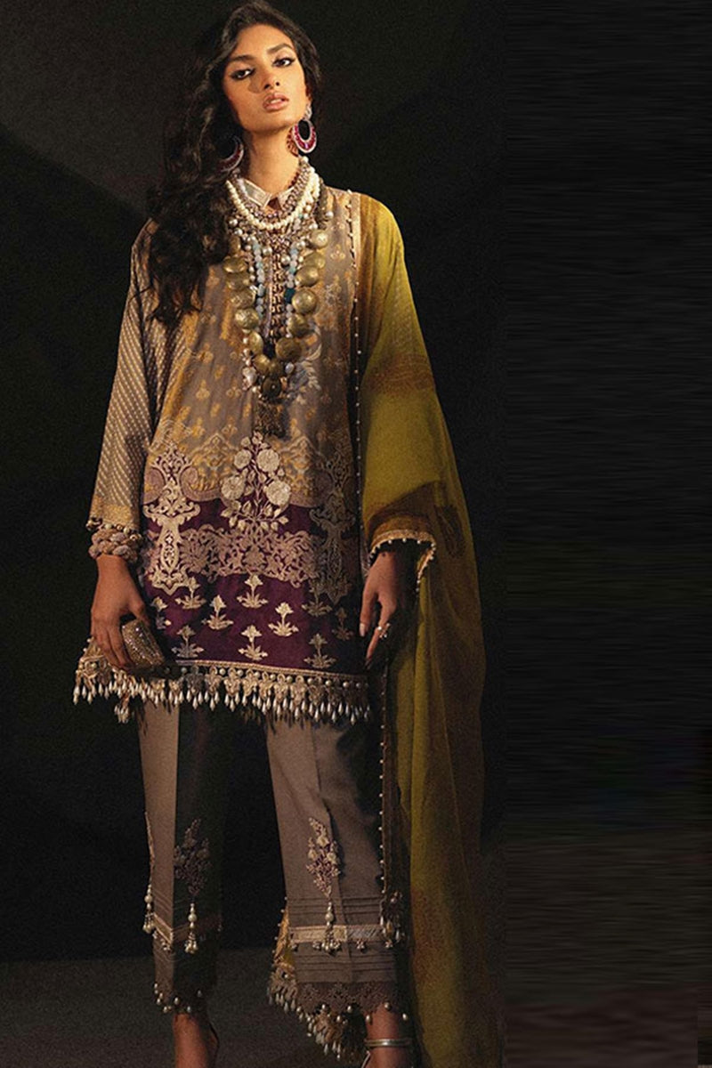 Sana SS-5784 Embroidered Three Piece Linen Collection