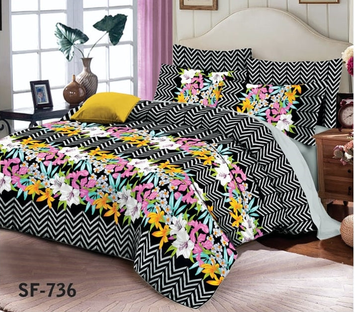 AL-karam SF-736 Pure Cotton PC Bedsheet