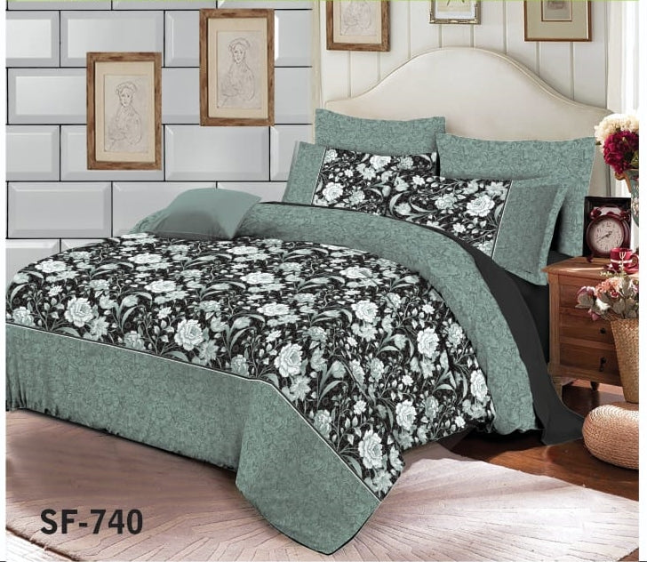 Al-karam SF-740 Pure Cotton PC Bedsheet