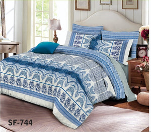 Al-karam SF-744 Pure Cotton PC Bedsheet
