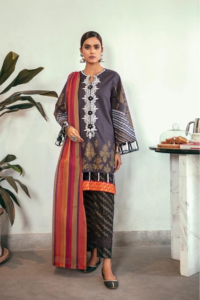 Ethnic ET-11 Embroidered Three Piece Lawn Collection