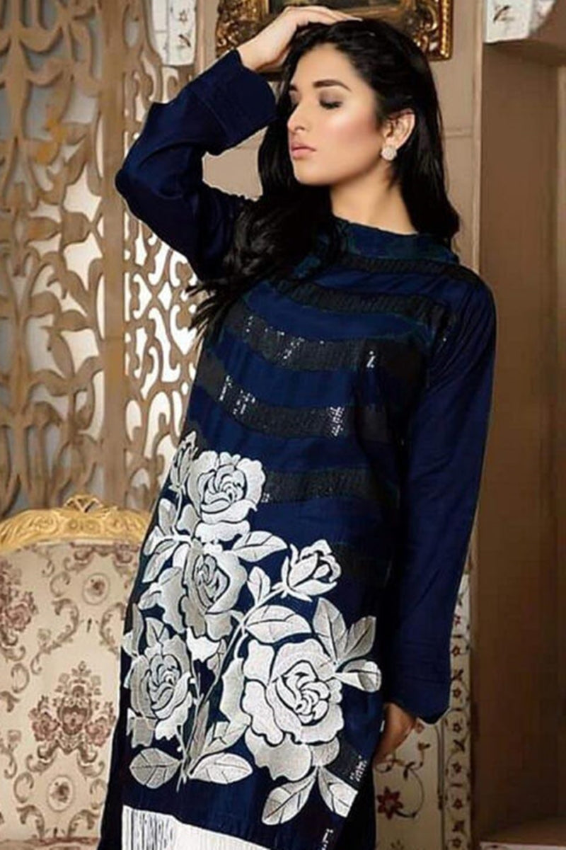 Kayseria KR-3076 Blue Lawn two piece suit Summer Collection