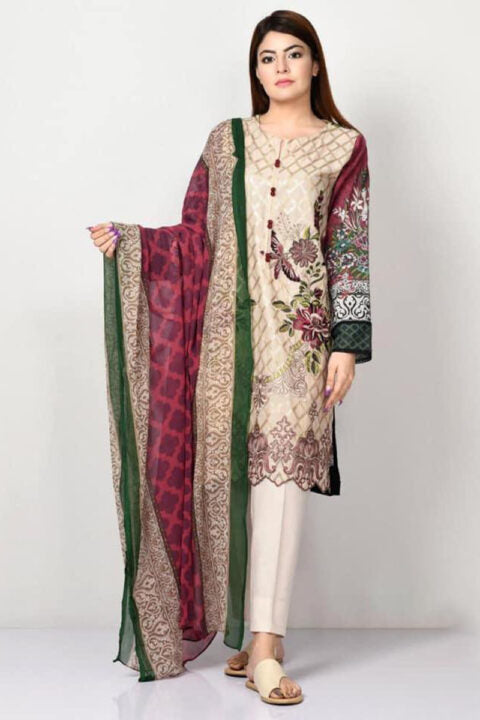 Limelight IZK-560 Embroidered Three Piece Lawn Collection