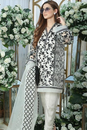 Charizma CH-61 three piece Lawn Embroidered Suit