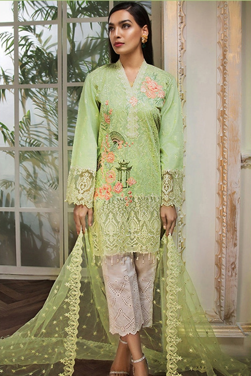 Anaya ANL-04A RHEA Lawn three piece suit Lawn Collection