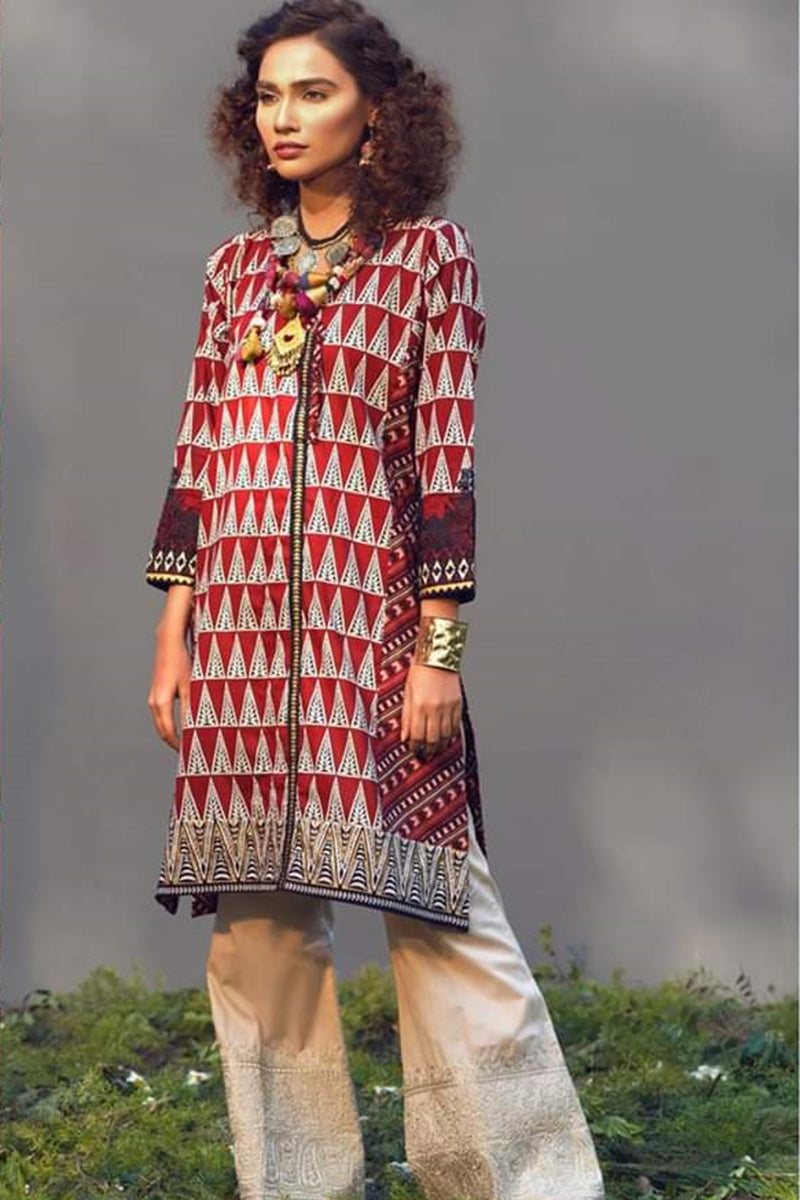 khaadi K-16 Embroidered two piece Lawn Collection