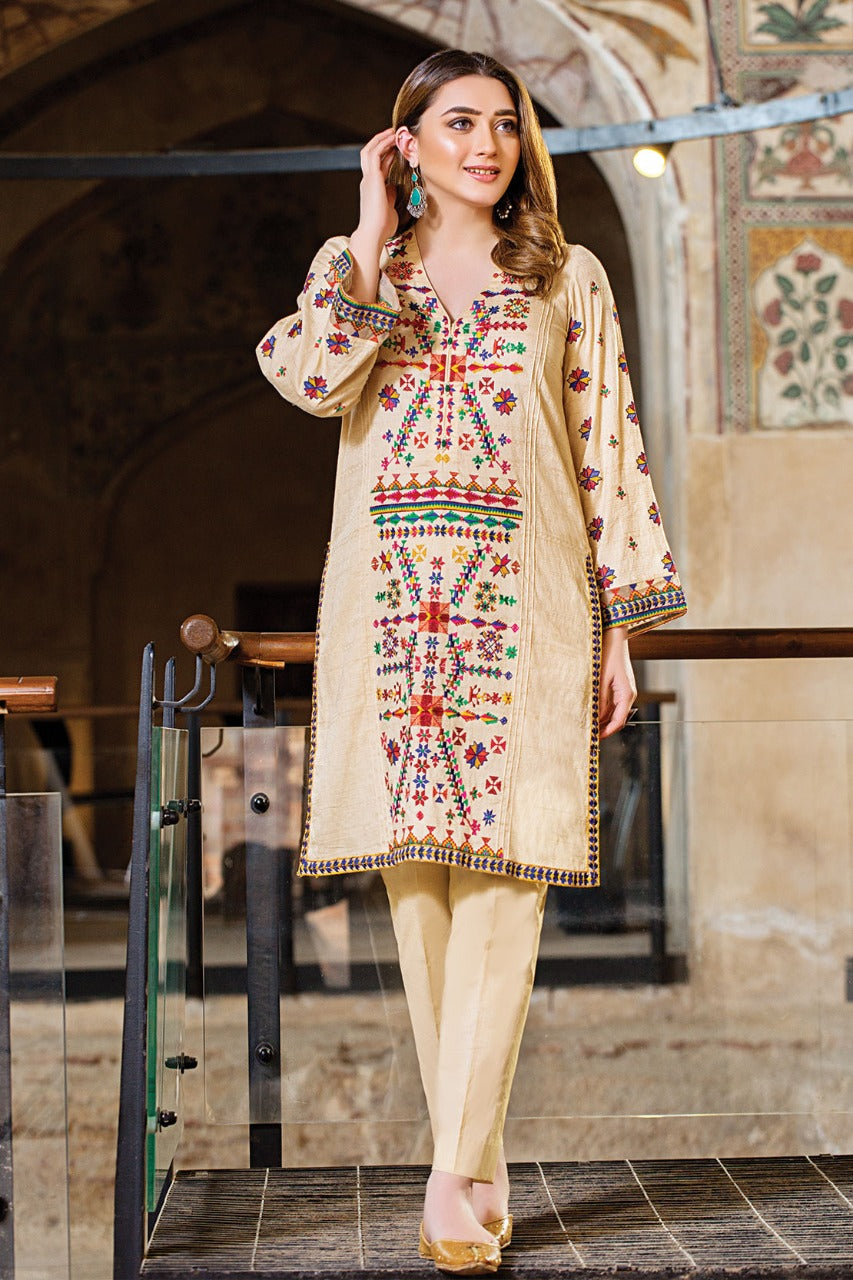 Female choice FCC-5103 Embroidered khaddar two piece Winter Collection