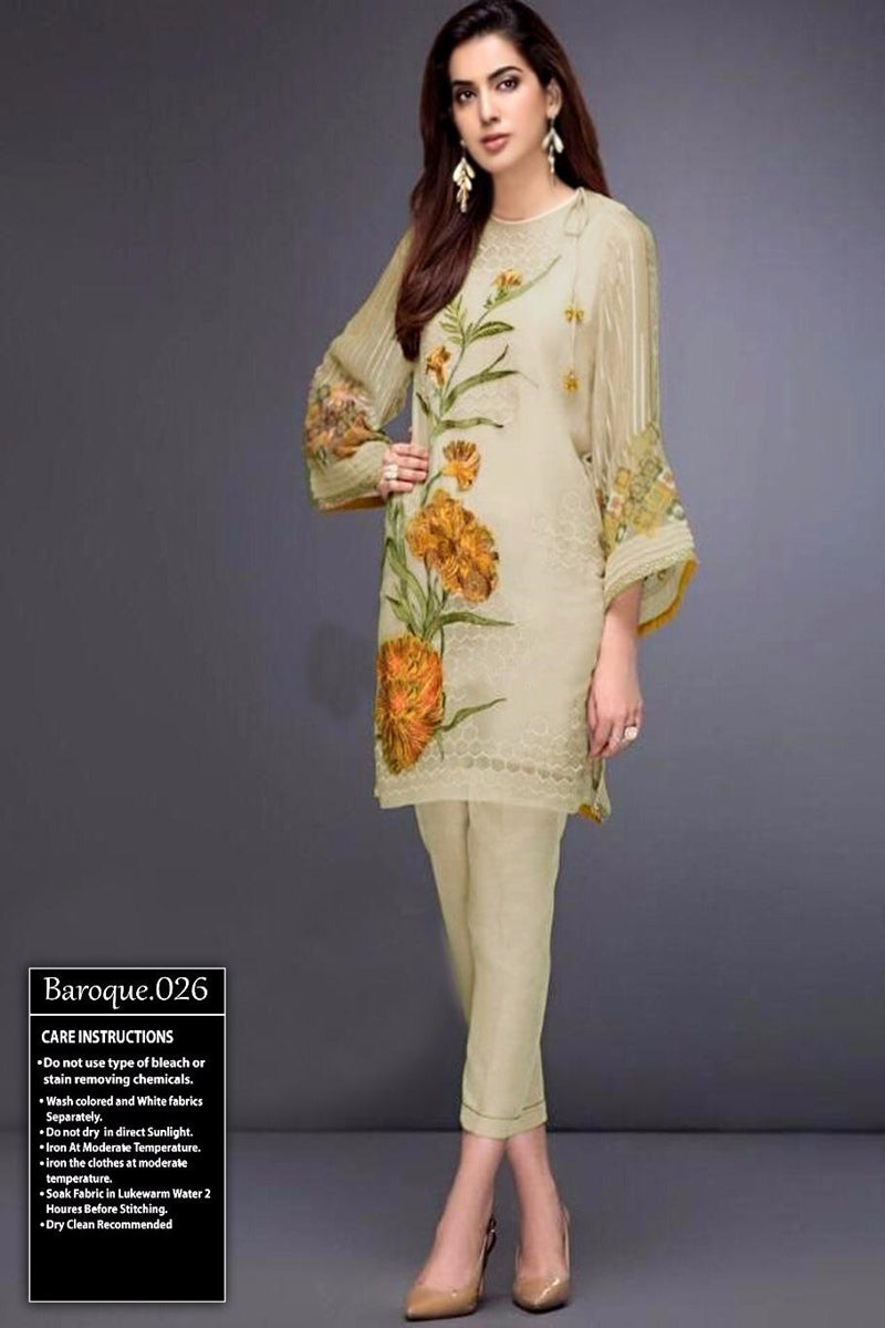 Baroque BQR-026 Linen three piece suit Winter Collection