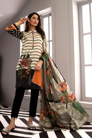 Sapphire D-451  Embroidered Three Piece Lawn Collection