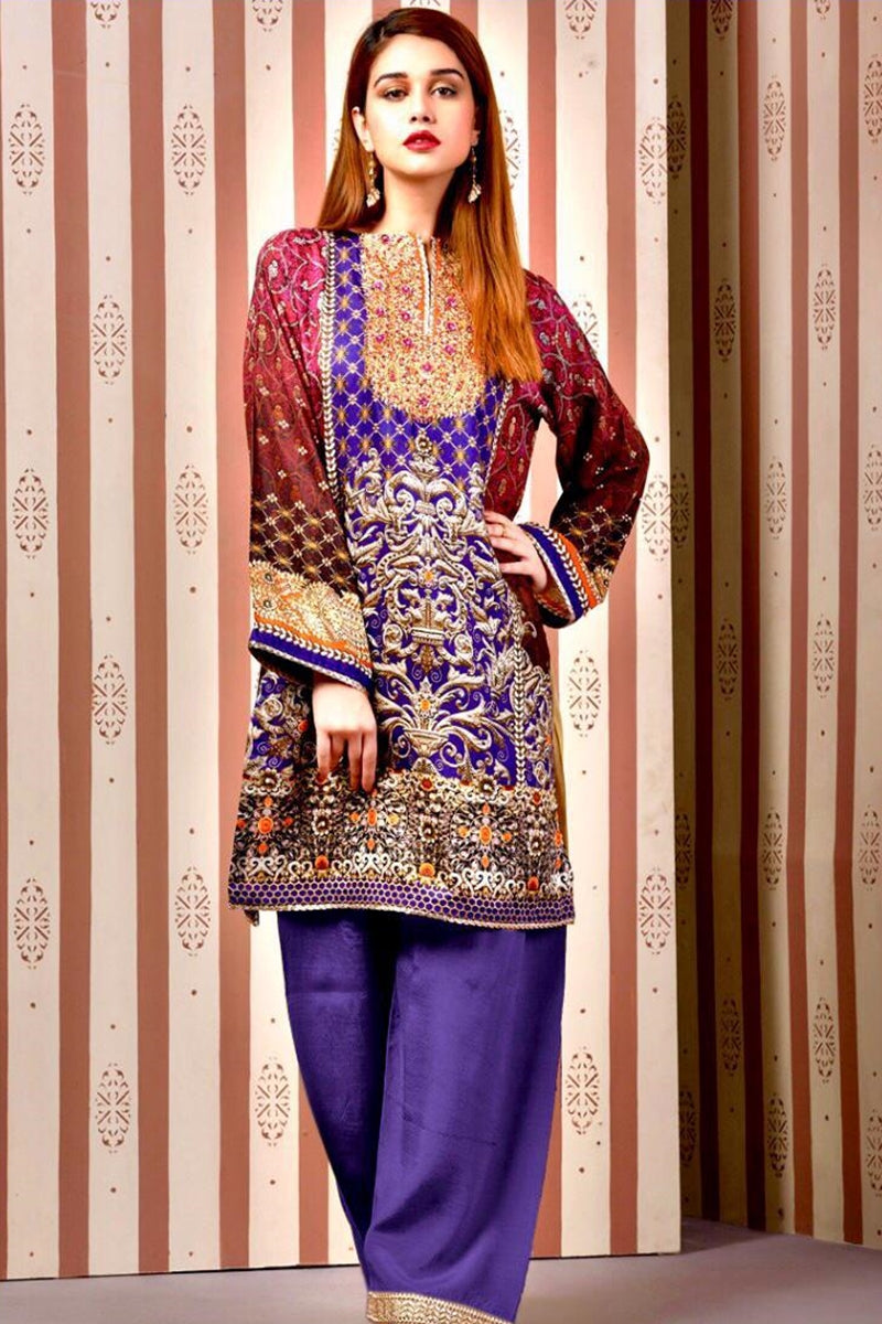 kayseria KR-01 Embroidered Three Piece Lawn Collection