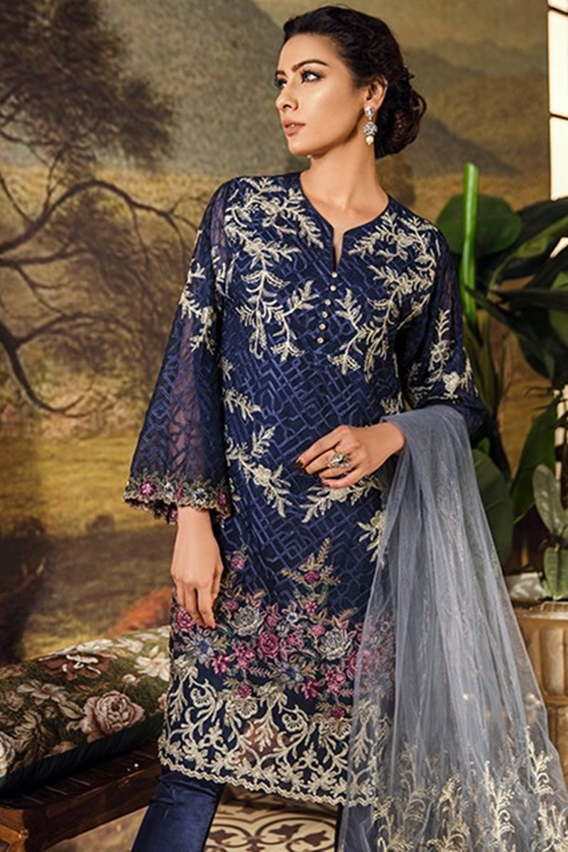 Iznik NIGHT SKY Embroidered Chiffon dress wedding collection