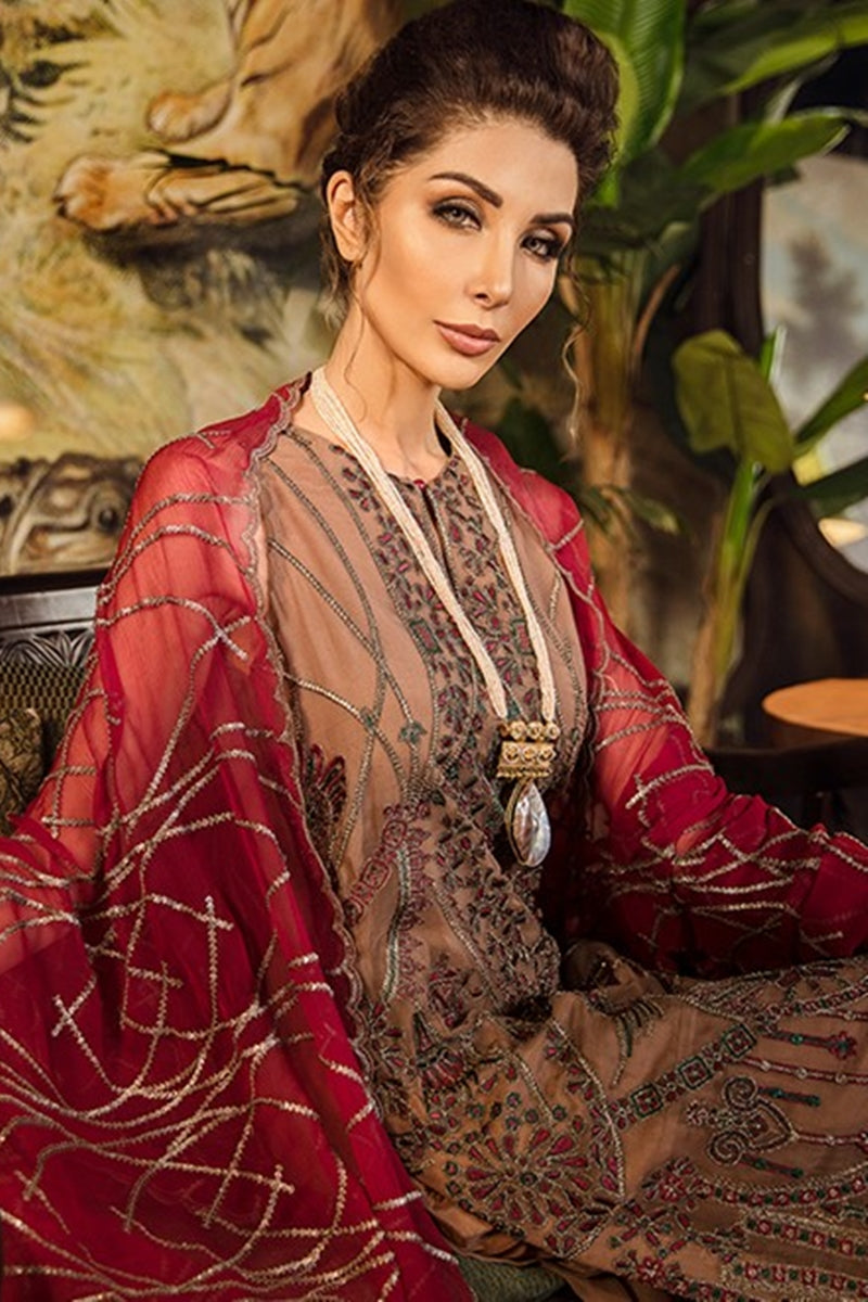 Iznik Desert Dus Embroidered Chiffon dress wedding collection