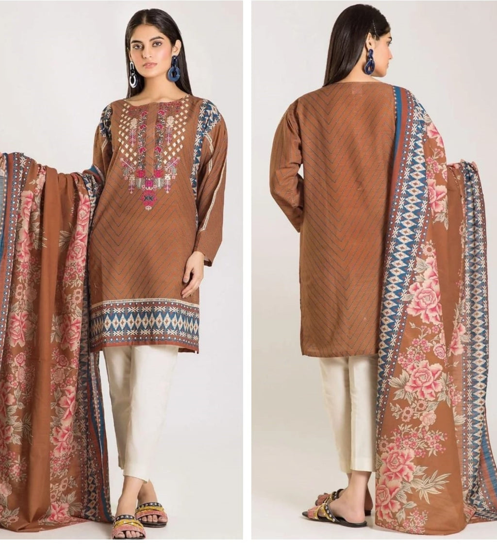 Khaadi K-02 Masori Embroidered Three Piece Lawn Collection