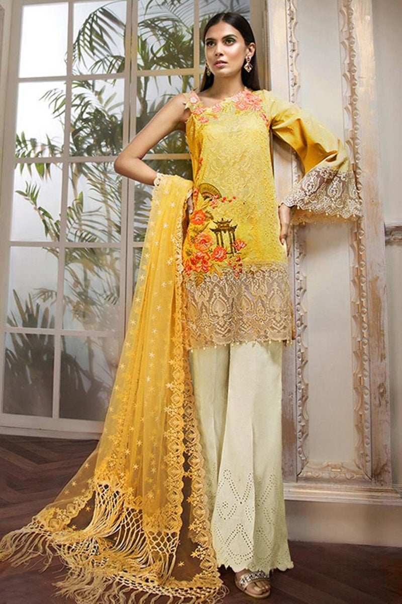 Anaya ANL-03A RHEA Lawn three piece suit Lawn Collection