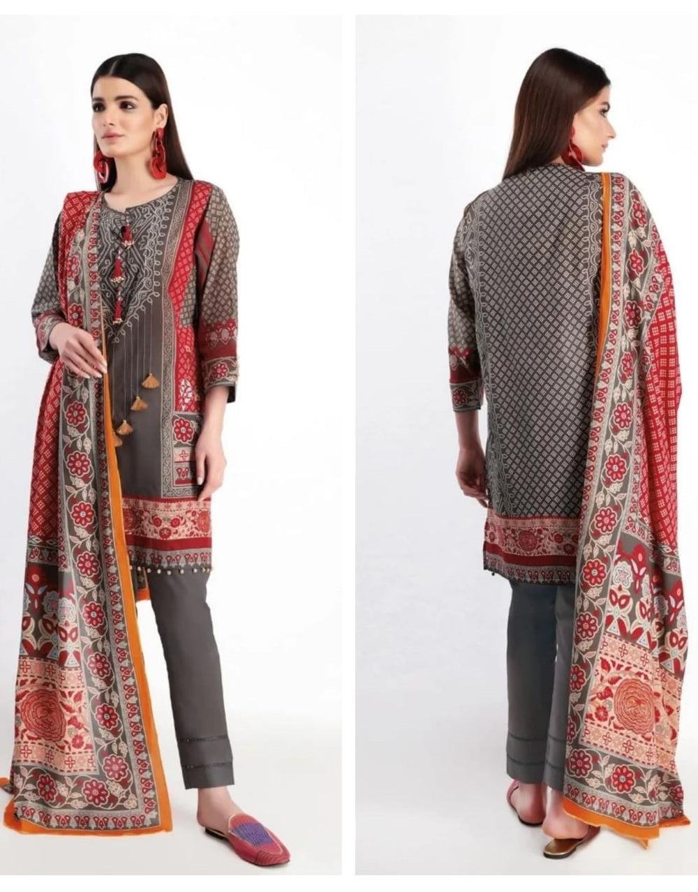 Khaadi K-03 Masori Embroidered Three Piece Lawn Collection