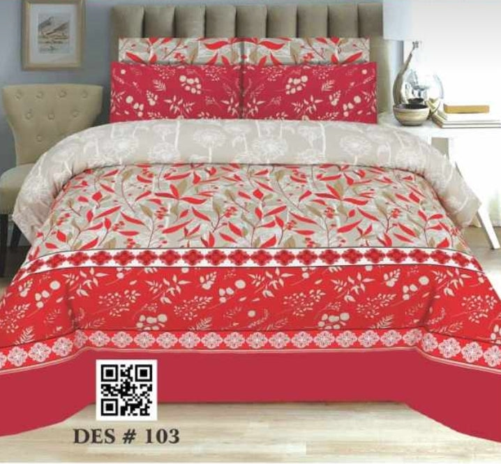 Nishat D#103 Pure Cotton PC Bedsheet