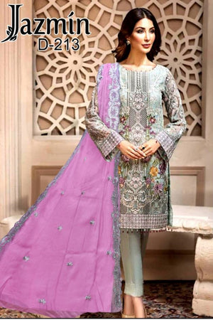 Jazmin D-213  Embroidered Three Piece Lawn Collection