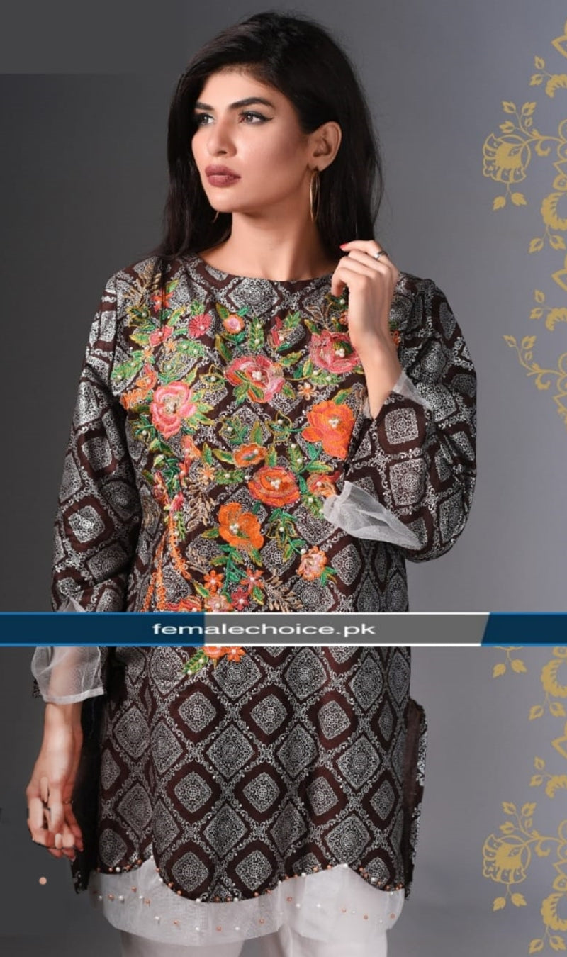 FCC-011 Lawn Embroiderd Stitched Shirt