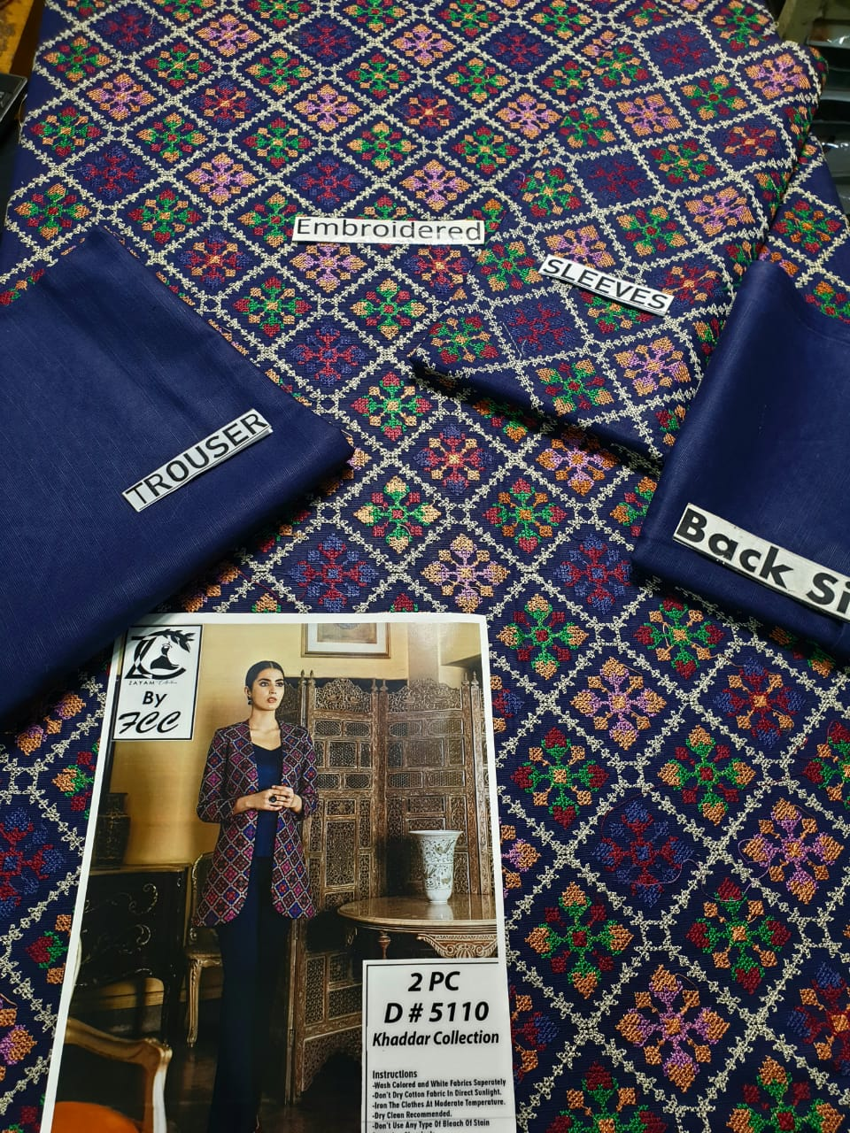 Bareeze FCC-5110 Blue (Khaddar) Embroidered two piece Khaddar Collection