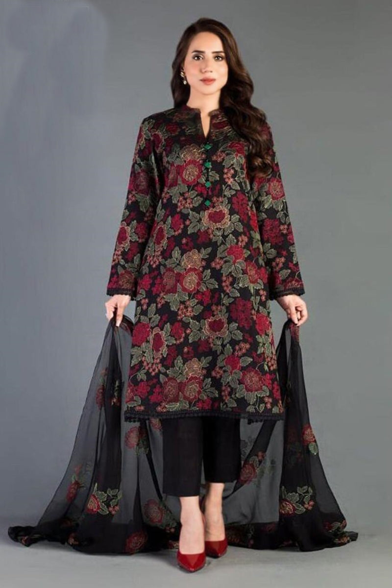 Bareeze  D 345 Black EID Collection Embroidered Three Piece Lawn Collection