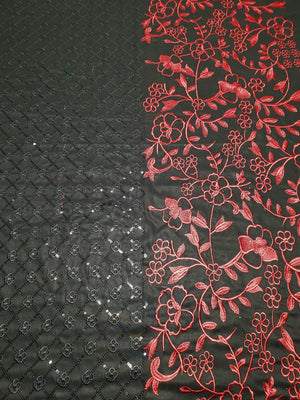 Aruze AZ-6015 Black(Linen) Embroidered two piece Linen Collection