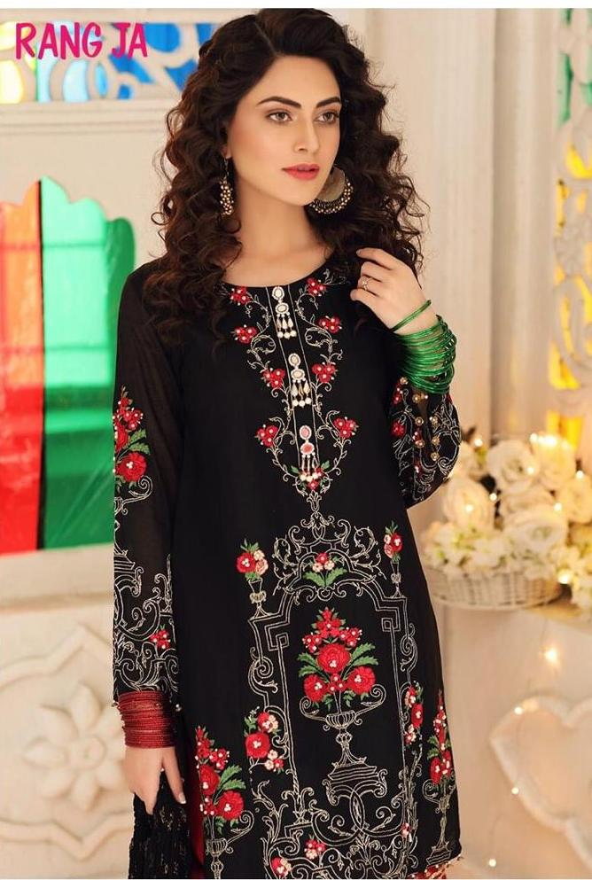 FCC-5086 Black  (Khaddar) Embroidered two piece Khaddar Collection