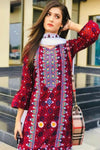 Maria B BD-1648 Ajrak  Embroidered Three Piece Lawn Collection
