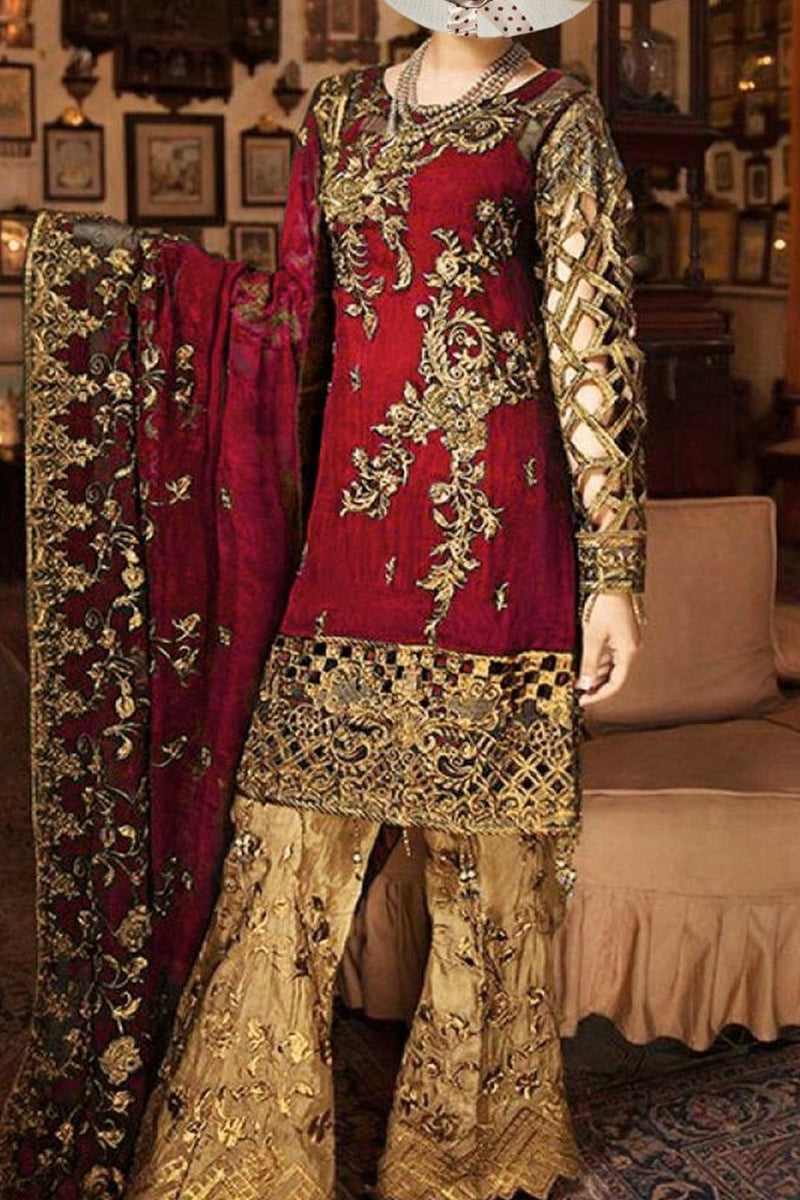 Zebtan ZR-04 Red EID Collection Embroidered Three Piece Lawn Collection