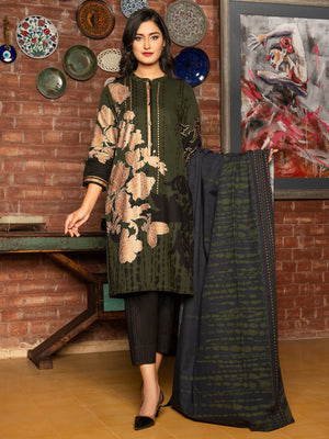 Limelight FCC 80-B Green Embroidered Three Piece Lawn  Collection