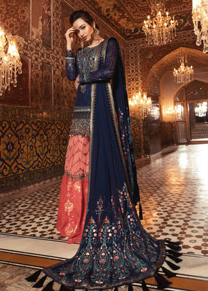 Maria B BDS-1803 Unstitched Pure Chiffon Collection Embroidered Two Piece