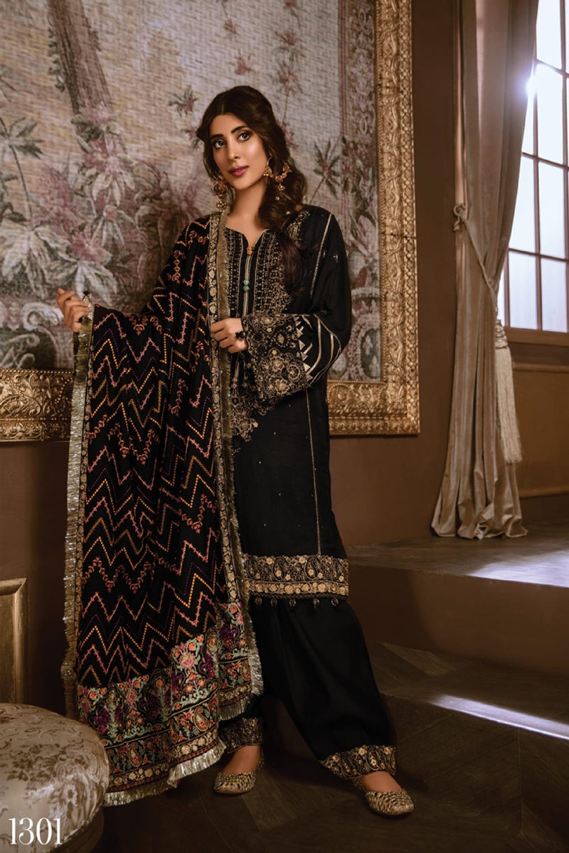 Rang Rasiya D 3080 Black Lawn three piece suit Summer Collection