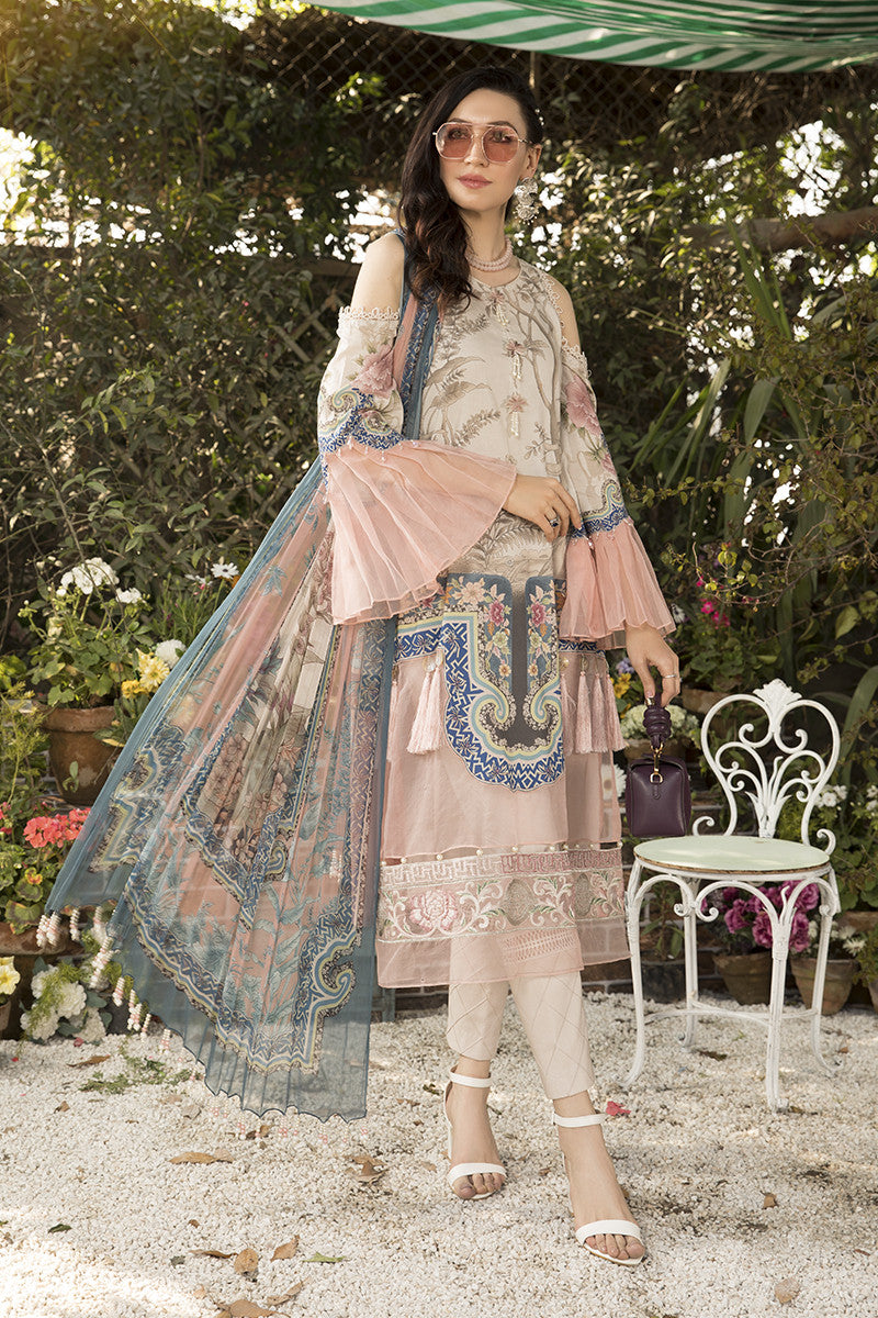 Maria B Mb-803A Embroidered Three Piece Linen Collection
