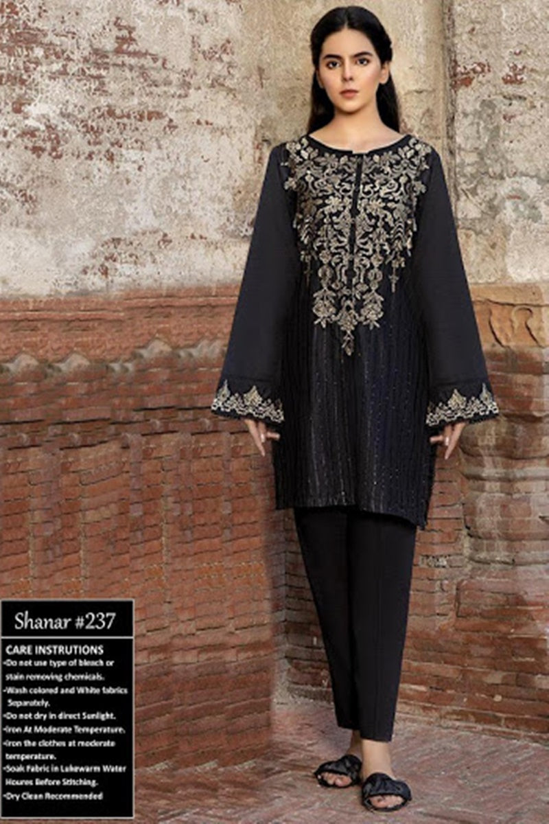 Female choice FCC-237  Black Khaddar Embroidered Two piece