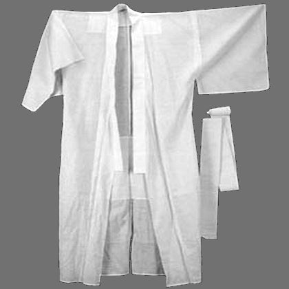 Japanese priest kimono meditation juban white under robe
