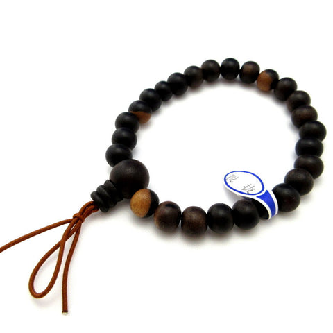 Black Persimmon Kaki Wood Juzu Bracelet Prayer Beads Handicraft