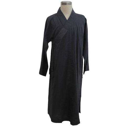 charcoal grey dark color Buddhist Zen monk robe custom made