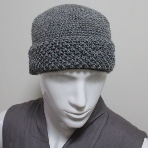 Hand knitted Buddhist Zen master winter wool monk hat cap