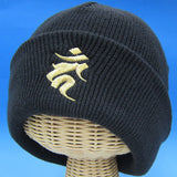 Winter Season Buddhist Pilgrim Casual Hat,Fudo Myoo Emblem Design