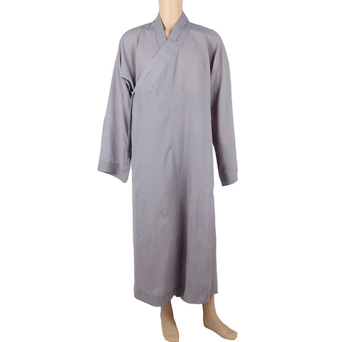 Grey color Buddhist monk Kungfu meditation daily robe supply