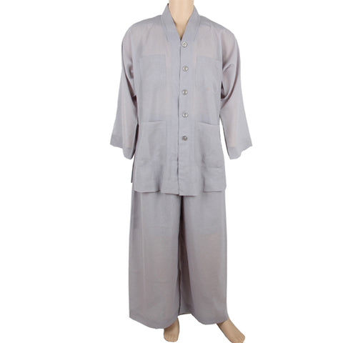 Buddhist grey kungfu uniform clothes shirt pants