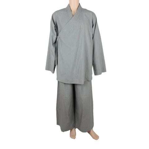 Lohan Monk Top & Pants, KungFu Performance Zen Buddhist Robe Clothing