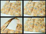 Japanese silk brocade patterned fabric Kesa