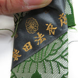 Dark Green 5 Panel Sewn Buddhist Kesa, Japonés Estilo Budista Used Robe