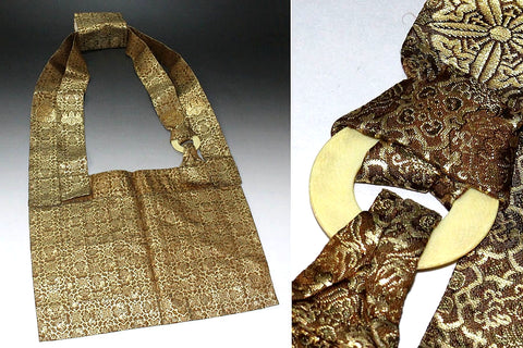 Japan zenji soto priest rakusu in gold brocade