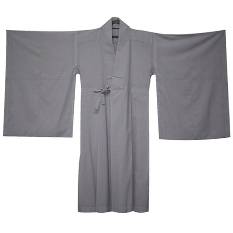 Korean Grey Long Robe Official Daily Long Robe Lay Practitioners Oblates,Priests Wear