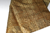 Premium Golden Brocade Rakusu,Japanese Buddha Robe Soto Shu Zen Priest Style incl Big Ivory Ring