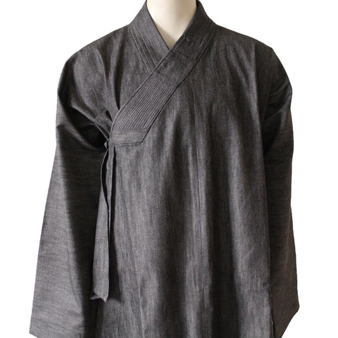 denim cotton jeans material Buddhist monk gown dress order
