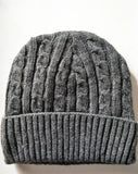 Dark grey wool braided korea Buddhist sunim monk hat craft