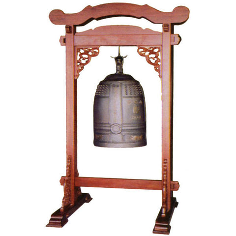 zen japanese buddhist temple densho bell including stand sale